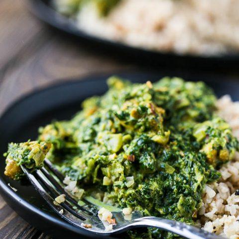 Chicken and Spinach Curry (Chicken Saag)