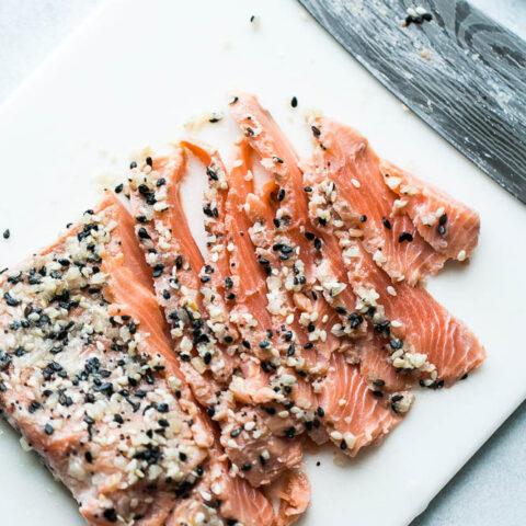 Homemade Everything Bagel Gravlax (Cured Salmon)