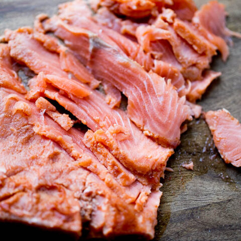 Sriracha Lime Gravlax (Cured Salmon)