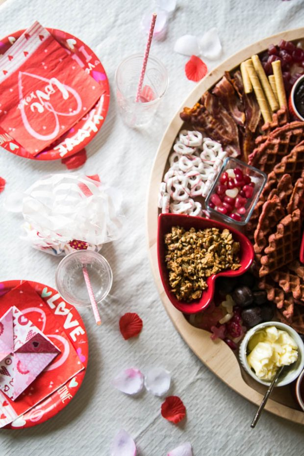 Valentine's Day Breakfast Boards are easy to put together and fun to surprise kids!