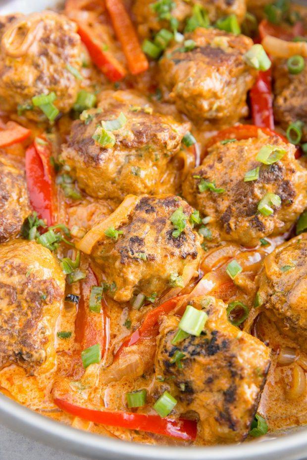 Paleo Meal Plan -- Turkey Meatball Curry