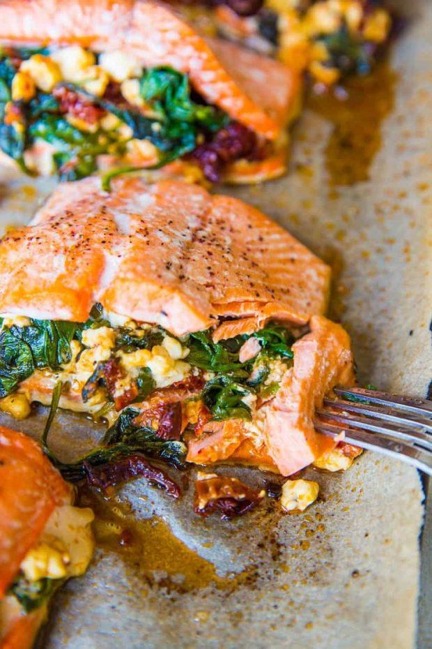 4-Ingredient Stuffed Mediterranean Skillet -- Paleo Meal Plans