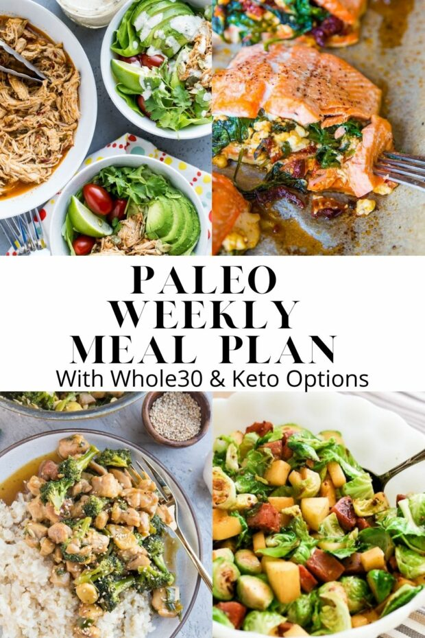 Paleo Meal Plan -- 6 paleo dinners and 1 paleo dessert recipe to get you set for the week!