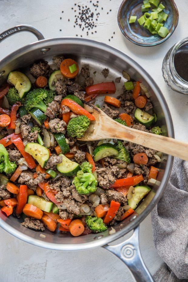 30-Minute Teriyaki Beef Skillet -- Paleo Meal Plans