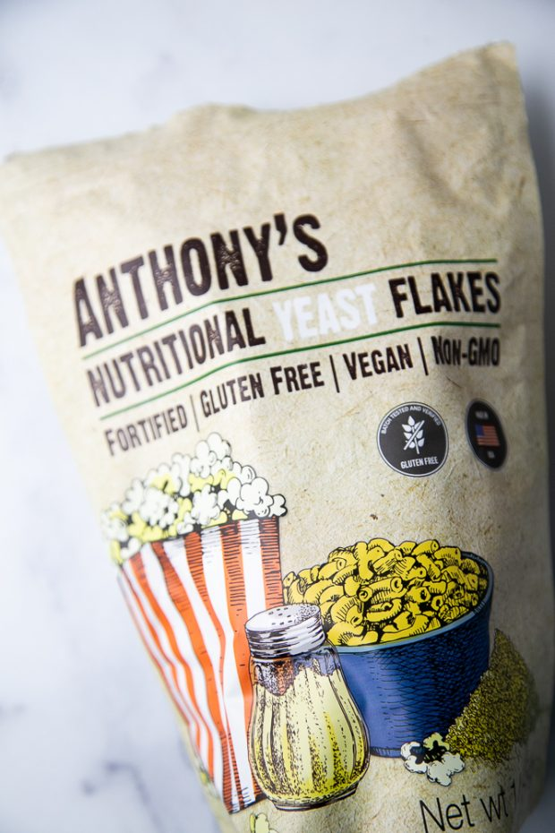 A package of Anthony's nutritional yeast flakes to use in homemade taco seasoning