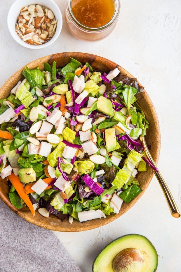 Sesame Turkey Avocado Chopped Salad