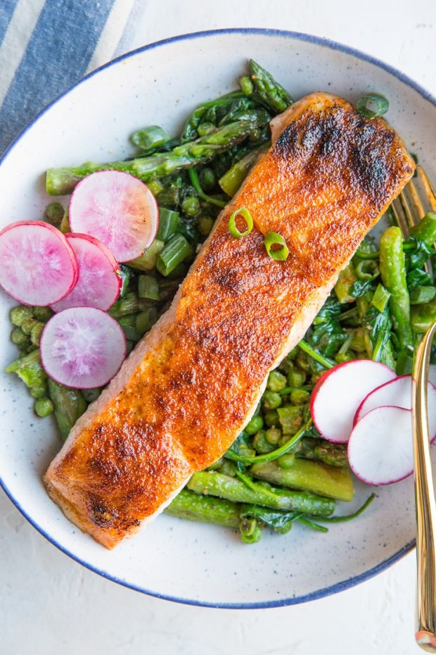 30-Minute Spring Salmon Bowls