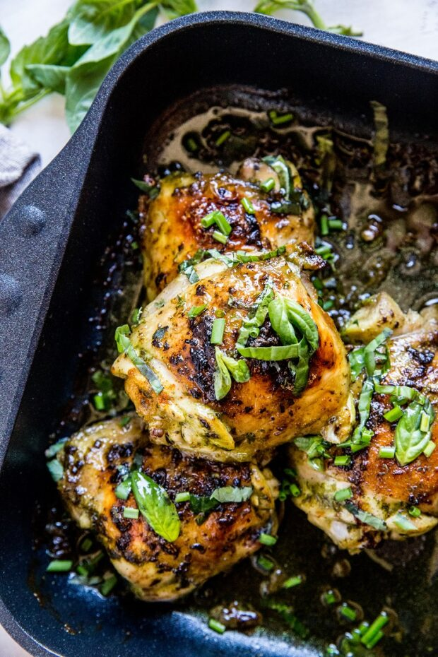 Baked Basil Chicken -- part of our Paleo Meal Plan this week!
