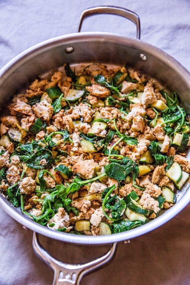 Zucchini & Ground Beef Skillet