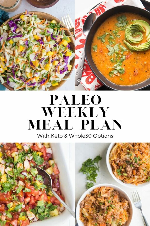 FREE PALEO MEAL PLAN with lots of tasty, easy seasonal recipes! Some Whole30 and keto adaptations as well.