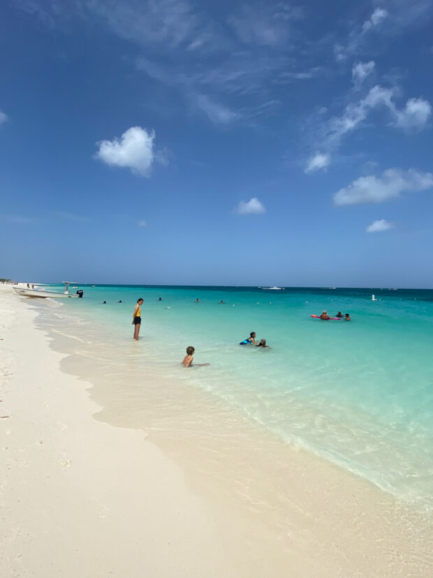 Eagle Beach in Aruba -- one of our favorite family vacations. I love creating recipes inspired by our travels.