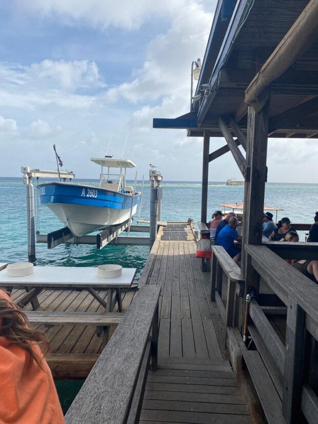 View of the ocean from Zeerover in Aruba.