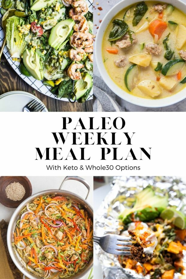 PALEO MEAL PLAN with lots of fresh, healthy recipes