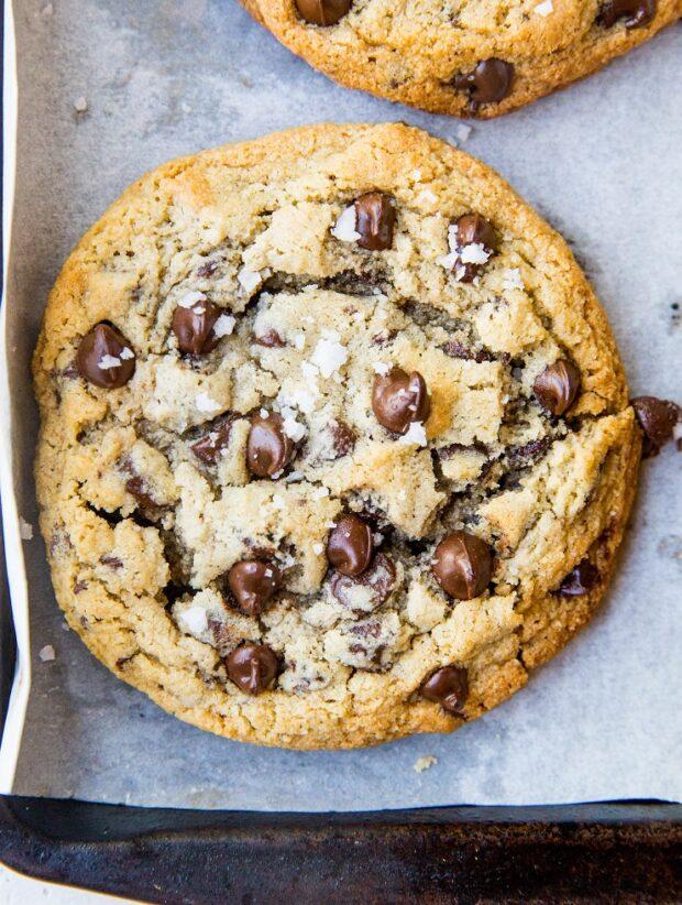 Giant Paleo Chocolate Chip Cookies!